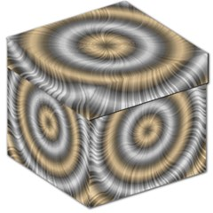 Prismatic Waves Gold Silver Storage Stool 12   by Alisyart