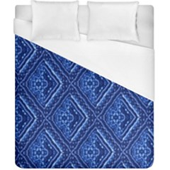 Blue Fractal Background Duvet Cover (california King Size) by Simbadda
