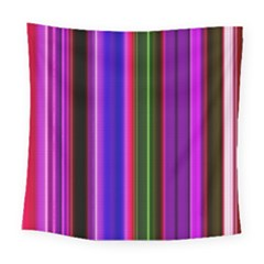 Fun Striped Background Design Pattern Square Tapestry (large) by Simbadda