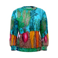Mural Displaying Array Of Garden Vegetables Women s Sweatshirt