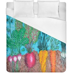 Mural Displaying Array Of Garden Vegetables Duvet Cover (california King Size) by Simbadda