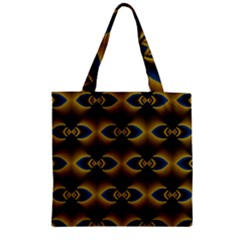 Fractal Multicolored Background Zipper Grocery Tote Bag