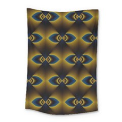 Fractal Multicolored Background Small Tapestry by Simbadda
