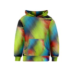 Punctulated Colorful Ground Noise Nervous Sorcery Sight Screen Pattern Kids  Pullover Hoodie by Simbadda