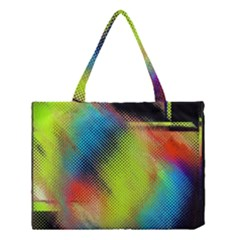 Punctulated Colorful Ground Noise Nervous Sorcery Sight Screen Pattern Medium Tote Bag by Simbadda