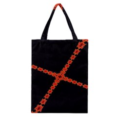 Red Fractal Cross Digital Computer Graphic Classic Tote Bag by Simbadda