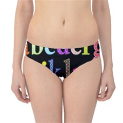 Alphabet Letters Colorful Polka Dots Letters In Lower Case Hipster Bikini Bottoms