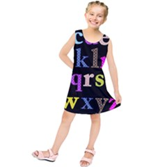 Alphabet Letters Colorful Polka Dots Letters In Lower Case Kids  Tunic Dress