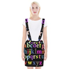 Alphabet Letters Colorful Polka Dots Letters In Lower Case Suspender Skirt