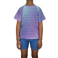 Abstract Lines Background Kids  Short Sleeve Swimwear
