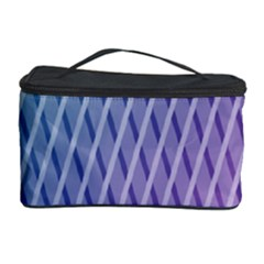 Abstract Lines Background Cosmetic Storage Case by Simbadda