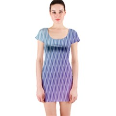 Abstract Lines Background Short Sleeve Bodycon Dress