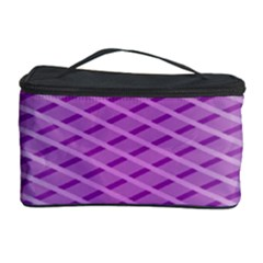 Abstract Lines Background Pattern Cosmetic Storage Case by Simbadda