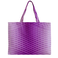 Abstract Lines Background Pattern Zipper Mini Tote Bag