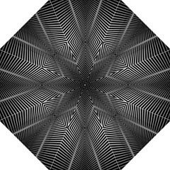 Abstract Of Shutter Lines Hook Handle Umbrellas (large) by Simbadda