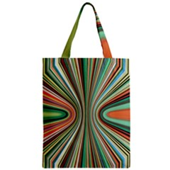 Colorful Spheric Background Zipper Classic Tote Bag by Simbadda