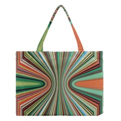 Colorful Spheric Background Medium Tote Bag by Simbadda