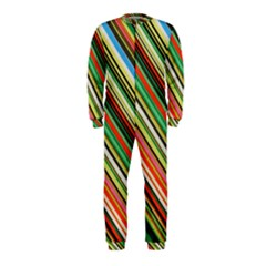 Colorful Stripe Background Onepiece Jumpsuit (kids) by Simbadda