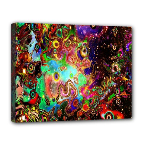 Alien World Digital Computer Graphic Canvas 14  X 11  by Simbadda