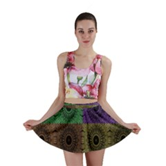 Creative Digital Pattern Computer Graphic Mini Skirt by Simbadda