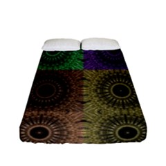 Creative Digital Pattern Computer Graphic Fitted Sheet (full/ Double Size) by Simbadda