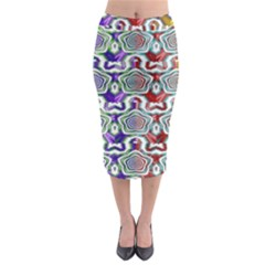 Digital Patterned Ornament Computer Graphic Midi Pencil Skirt by Simbadda