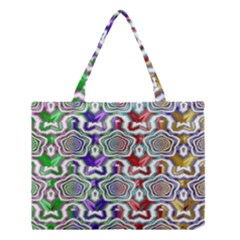 Digital Patterned Ornament Computer Graphic Medium Tote Bag by Simbadda