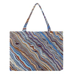 Fractal Waves Background Wallpaper Pattern Medium Tote Bag by Simbadda