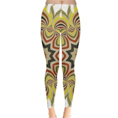 Abstract Geometric Seamless Ol Ckaleidoscope Pattern Leggings  by Simbadda