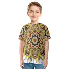 Abstract Geometric Seamless Ol Ckaleidoscope Pattern Kids  Sport Mesh Tee