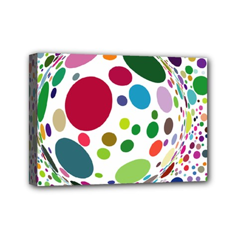 Color Ball Mini Canvas 7  X 5  by Mariart