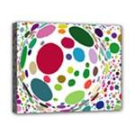 Color Ball Canvas 10  x 8