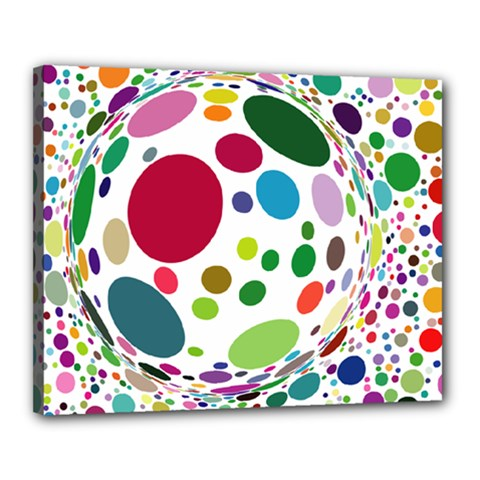 Color Ball Canvas 20  X 16