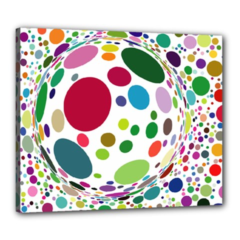 Color Ball Canvas 24  X 20