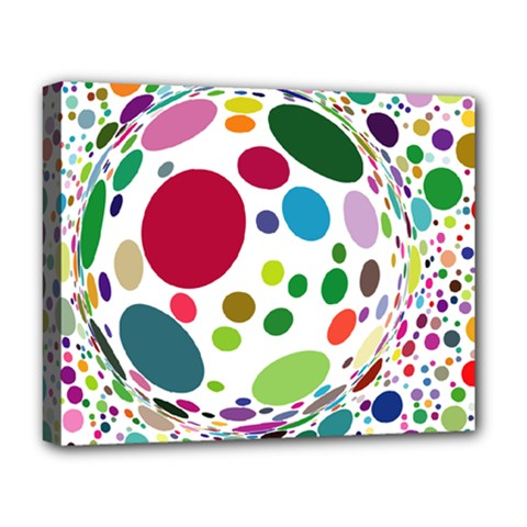 Color Ball Deluxe Canvas 20  X 16   by Mariart