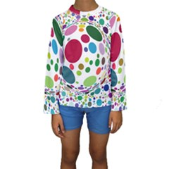 Color Ball Kids  Long Sleeve Swimwear