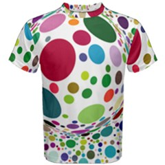 Color Ball Men s Cotton Tee