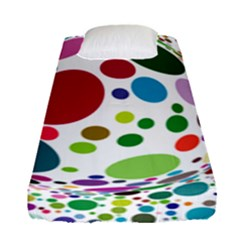 Color Ball Fitted Sheet (single Size) by Mariart