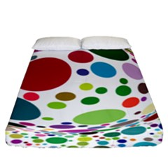 Color Ball Fitted Sheet (king Size)