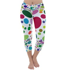 Color Ball Capri Winter Leggings
