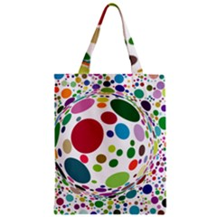 Color Ball Zipper Classic Tote Bag