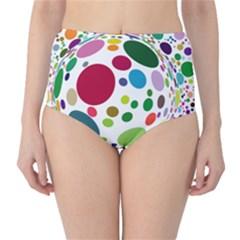 Color Ball High Waist Bikini Bottoms