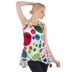 Color Ball Side Drop Tank Tunic by Mariart