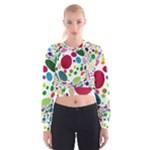 Color Ball Women s Cropped Sweatshirt