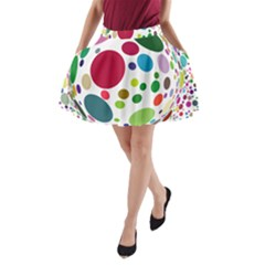 Color Ball A Line Pocket Skirt by Mariart