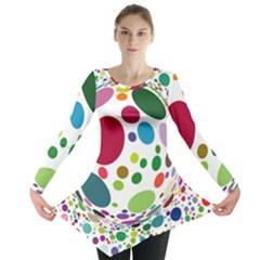 Color Ball Long Sleeve Tunic