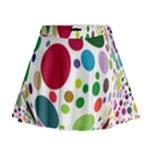Color Ball Mini Flare Skirt