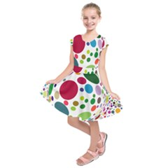 Color Ball Kids  Short Sleeve Dress by Mariart