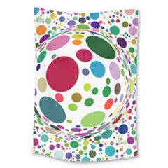 Color Ball Large Tapestry