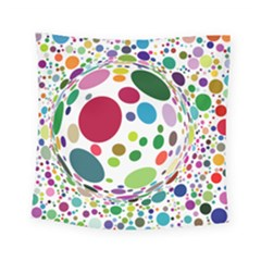 Color Ball Square Tapestry (small)